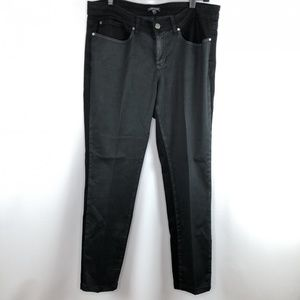 Eileen Fisher Two Tone Jeans Black Gray Size 14